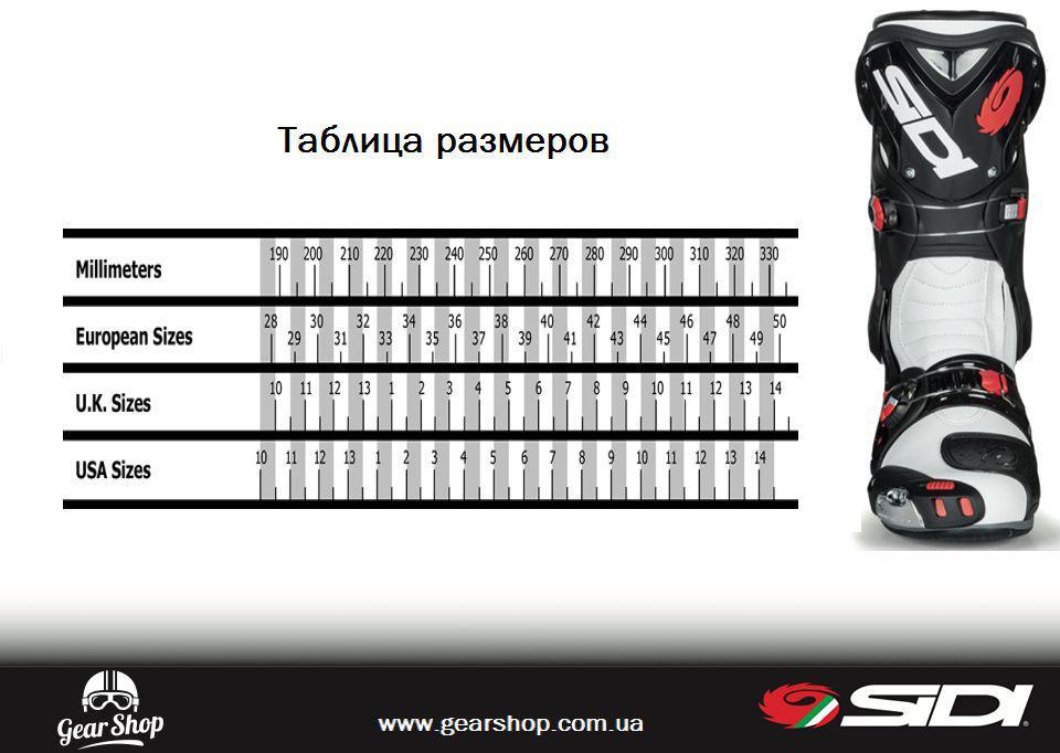 ac5da1102d9 Gear Shop - интернет магазин мотоэкипировки   Помощь   Таблица размеров